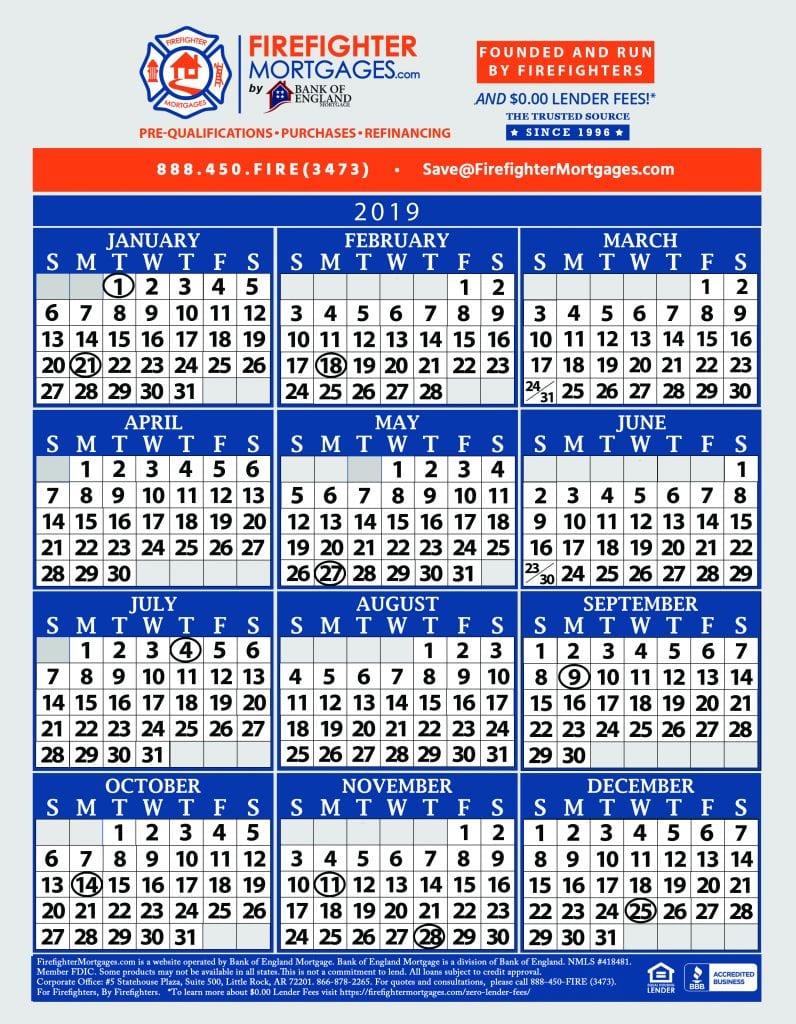 Firefighter Shift Calendar Firefighter Calendar